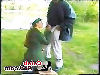 Blowjob European German Hardcore Outdoor Public Uniform