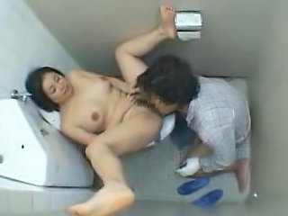 Asian Japanese Licking Public Toilet