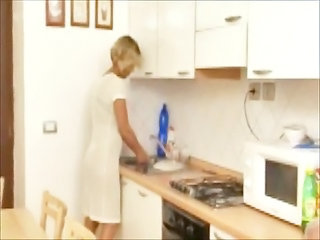 Kitchen Mature Wife
