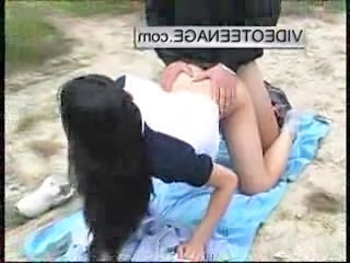 Asian Beach Clothed Doggystyle Outdoor Teen