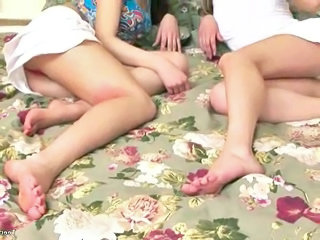Legs Teen Threesome