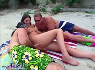Beach Double Penetration Outdoor Teen Threesome