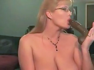 Big Tits Dildo Glasses MILF Natural Toy Webcam