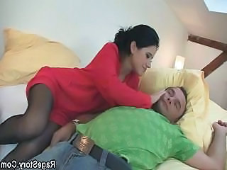Pantyhose Sleeping Wife