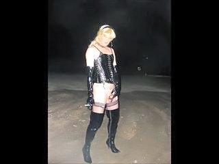 Pissing Public Smoking Stockings