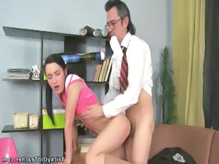 Daddy Doggystyle Old and Young Teacher Teen Young