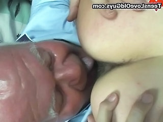Close up Daddy Licking Old and Young