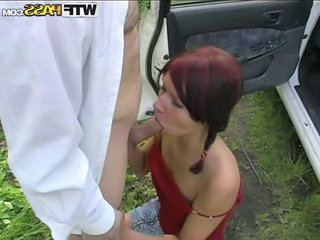 Amateur Blowjob Car Outdoor Teen