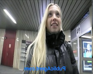 Amateur Blonde Pov Public Teen