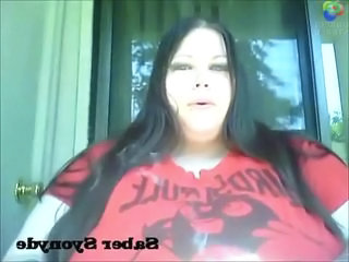 BBW Goth Smoking Webcam