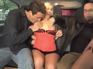 Car Teen Threesome