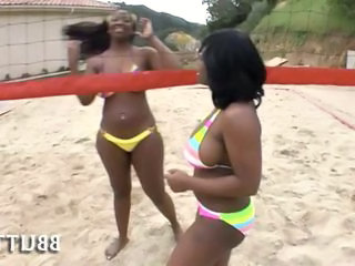 Beach Bikini Ebony Game Outdoor Teen