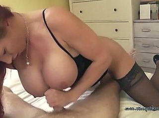 Big Tits British European Handjob MILF Stockings