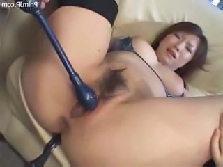 Asian Close up Hairy Teen Toy