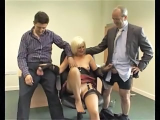 British European Handjob Mature Older Stockings Threesome