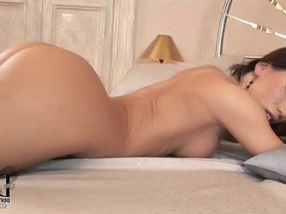 Ass Bedroom Babe Brunette Lingerie Orgasm Piercing Pussy Solo Tattoo