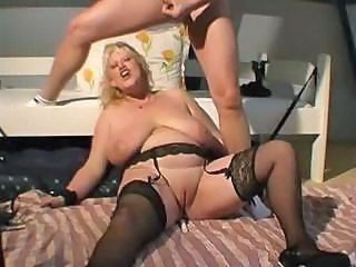 Amateur BBW Big Tits Blonde Cumshot Mature SaggyTits Stockings