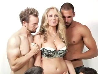 Big Tits Gangbang Lingerie MILF Mom Old and Young Pornstar