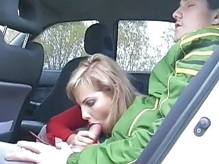 Blonde Blowjob Car Teen