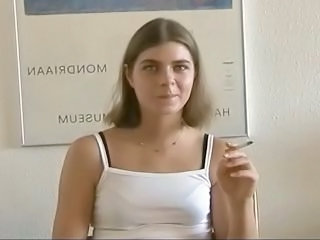 Amateur European German Smoking Teen