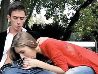 Blowjob Clothed Outdoor Public Teen