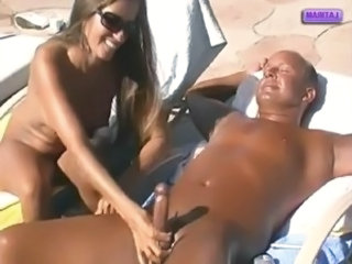 Amateur Handjob MILF Nudist Outdoor