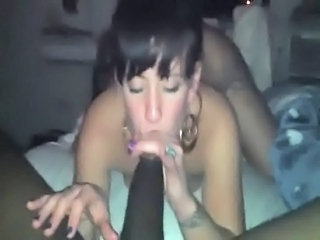 Amateur Big cock Blowjob Interracial Threesome
