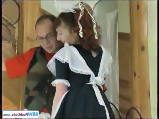 Chubby Maid Mature Older Redhead Uniform