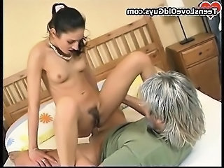Daddy Daughter Hairy Old and Young Riding Skinny Small Tits Teen