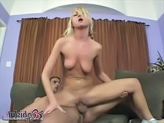 Blonde Cheerleader Hardcore Riding SaggyTits Teen