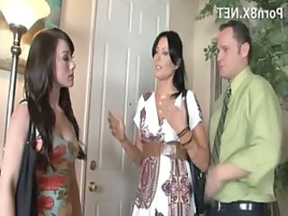 Babysitter MILF Old and Young Teen Threesome Wife