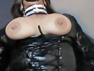 Fetish Latex Nipples Piercing