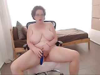 BBW Big Tits Masturbating Mature MILF Natural SaggyTits Toy Webcam