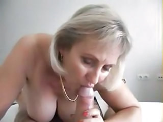 Busty Blonde Mature Babe Is Tremendous Him A Nice Pov Blowjob