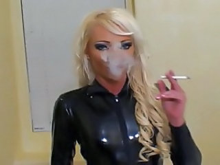 Bathroom Blonde Blowjob Double Penetration Latex Smoking Threesome