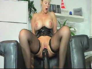 Black Dildo Riding