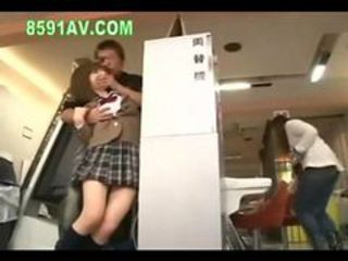 schoolgirl fucked by amateur and call phone to boyfri...
