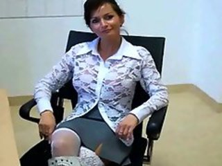 Mature Office Secretary Upskirt