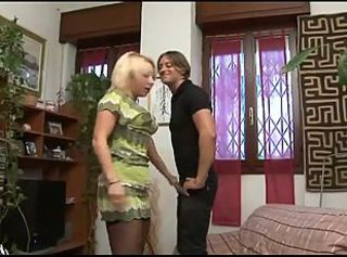 Cheating Italian Housewife with her young Lover
