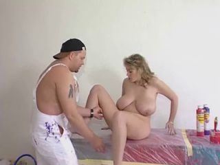 "Blonde with giant natural tits fucked by the painter"" target=""_blank"