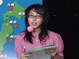 Japanese Female Announcer Receives Cum Facials