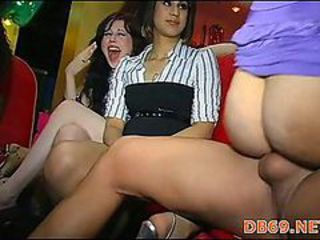 Party sluts banged by stripper