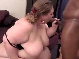 Enormous white bitch and black guy fuck