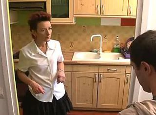 French Mature Fucked In The Kitchen