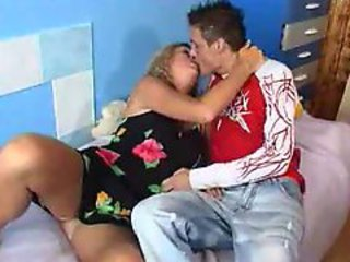 Clothed Kissing Mature Mom