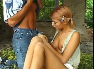 Cute Old and Young Outdoor Russian Teen