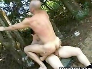 Gay Latino Army Barebacking Outdoors