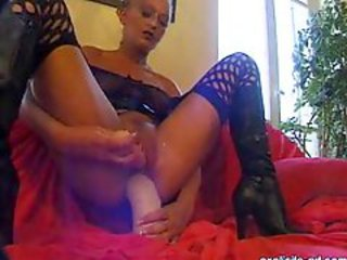 Extreme mature milf mom hardcore fisting fetish and huge ass dildo insertions