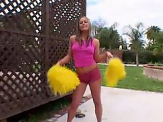 Blonde Cheerleader Gets Suck!