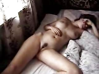 Amateur slut sleeping fucked on